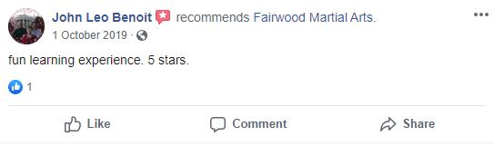 6 1, Fairwood Martial Arts