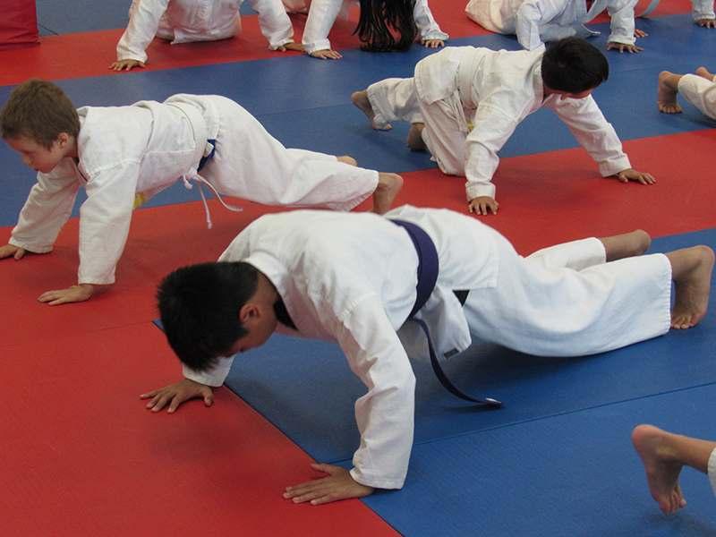 Kids karate training in Renton