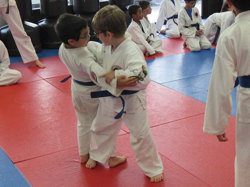 Kids karate training in Renton
